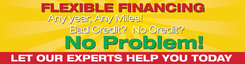 Flexible financing – Any year any miles – Bad credit no credit No problem Let our experts help you today
